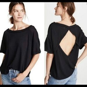 NWT Free People Viola Open Back T-shirt